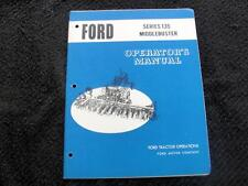 Original 1968 Ford Series 135 Middlebuster 3-8 Row Implement Operators Manual