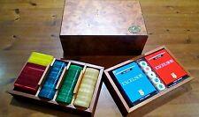 Dal Negro confezione legno radica carte da gioco , fiches e dadi poker