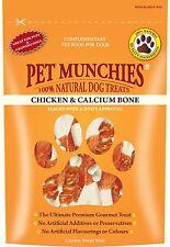 Pet Munchies Chicken & Calcium Bone 100% Natural Dog Treat Grain Free 100g x 3