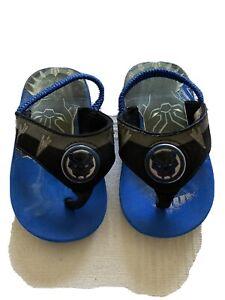 Black panther kids light up sandals Toddler Size 6/7