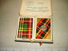 Vintage PIATNIK TARTAN PLAYING CARDS 2 Decks w BUCHANAN Tartan Backs NR