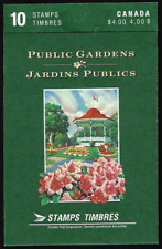 Canada Stamps — Booklet Pane of 10 in Cover — Public Gardens #1315b (BK130) —MNH
