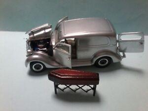 MODIFIED Unique Replicas 1935 FORD SEDAN DELIVERY HEARSE with church truck &