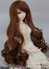 "Wigs BJD Doll Hair Wig 8-9"" 1/3 SD DZ Doll LUTS Long curls Wig Women Gifts New"