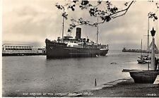 POSTCARD   DORSET  WEYMOUTH   The  Arrival  of  the  Jersey  Boat       RP