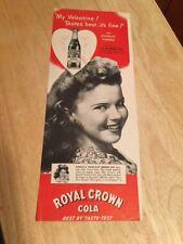 Vintage 1944 Magazine Ad - SHIRLEY TEMPLE - ROYAL CROWN COLA