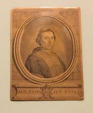 Antica Incisione Su Lastra Di Rame Matrice Per Stampe - PIO VII (1800-1823)