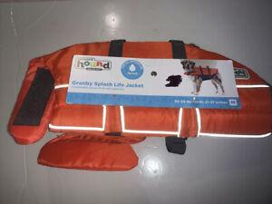 Outward Hound Granby Splash Ripstop Dog Life Jacket Orange Medium