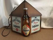 Duquesne beer sign vintage metal light box Rog reverse painted glass lighted old
