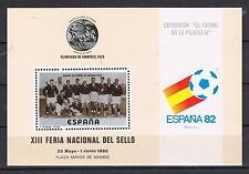 ESPAÑA HOJITA RECUERDO XIII FERIA NACIONAL DEL SELLO  ESPAña'82