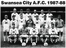 SWANSEA CITY FOOTBALL TEAM PHOTO>1987-88 SEASON