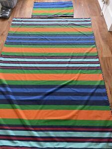 Next Blue Multi Coloured Striped Single Bed Duvet  Cover Bedding Set