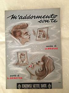 SPARTITO MUSICALE M'ADDORMENTO CON TE U. PROUS L. BERETTA SLOW ROCK 1958
