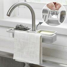 Kitchen Sink Faucet Sponge Soap Cloth Drain Rack Storage Organizer Holder-Shelf