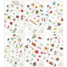 6pcs Decor Photo Album Diary Happy Life Garden Sticker Scrapbooking