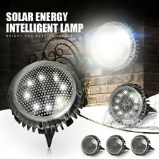 4 Pack Garden Pathway Outdoor In-Ground 8 LED Solar Ground Lights Walkway Lamp