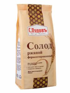 Dark Rye Malt For Russian Bread and Kvass, Fermented, 300g/10.5oz (Солод)