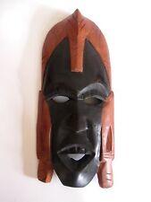 Ältere Holzmaske aus Afrika Kenia Troppenholz hand-geschnitzt 32 cm hoch