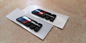 LOGO M Sport BMW 2 pz. nero LUCIDO 4,5x1,5 mm. Logo fregio Badge
