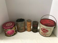 LOT Vintage 1930-50 Advertising Cans lot Coffee, soap,lard,candy ,beer