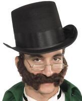 Curly Burly Beard Gentleman Fancy Dress Halloween Costume Accessory 2 COLORS