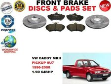 FOR VW CADDY II PICKUP 1.9D 9U7 96-00 FRONT BRAKE DISCS SET + BRAKE PADS KIT