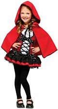 Fun World Costumes Sweet Red Riding Hood Kids Costume, Multicolor Size M New