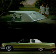 1974 Cadillac Coupe Deville, Green, Refrigerator/Tool box Magnet, 40 Mil