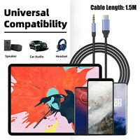 USB Type-C Male To 3.5mm Jack AUX  Audio Adapter Cable For Car Speaker Headset