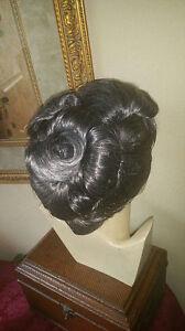 Janet edwardian victorian wig in 44 grey updo silver gray curls