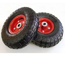 "2 x Sack Truck Wheels 4.10/3.50 - 4 10"" Load 136kg 30 PSI Air, Hand Trolley Cart"
