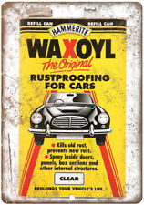 "Hammerite Waxol Auto Wax Ad 10"" x 7"" Reproduction Metal Sign A196"