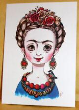 Dobra Lystivka Art Postcard - Frida by Svitlana Balukh