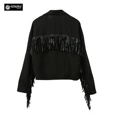 Giacca Donna Giubbotto Frange - Woman Jacket with Fringes JAC0015Z