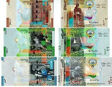 Kuwait 3 Notes 2014 Uncirculated 1/4 ,1/2 & 1 Dinar