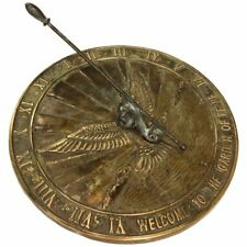 Metal Brass Sundial Watch Wind Clock Roman Lawn Garden Decor Outdoor Antique