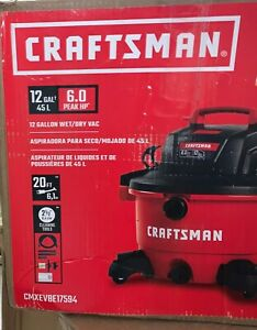 CRAFTSMAN WET DRY VAC 12 Gallon Vacuum Cleaner 6 Peak HP Portable Shop Blower