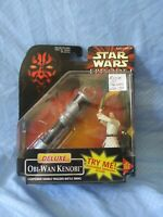 Hasbro Star Wars: Episode 1 Deluxe - Obi-Wan Kenobi Action Figure FACTORY SEALED