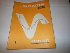OEM Factory Honda 1973 CB125s Parts List Manual 83 Pages