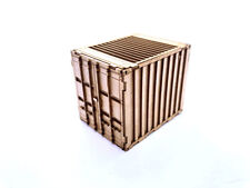 2 x 10ft SHIPPING CONTAINERS LASER CUT KIT OO SCALE 1:76 MODEL RAILWAY LX188-OO