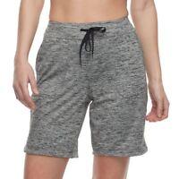 Tek Gear® Drawstring Bermuda Shorts Capital Gray Women's Sz XL NWT MSRP$36