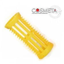 Hair setting rollers Skelox snd plastic pins Hairtools Yellow 22mm