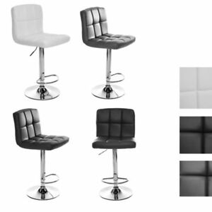 Panana Breakfast Bar Chairs Adjustable Pub Bar Stools Modern Faux Leather UK