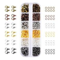 6 Colors Lobster Claw Clasps and 6 Colors Open Jump Rings for Jewelry Making KC