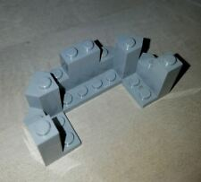 Lego Parts 6066 Old Light Gray & Bluish Lt Gray 4x8x2.3 Castle Turret Top  LOT 1