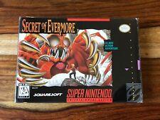 Secret of Evermore Super Nintendo SNES CIB Complete Box Manual MAP Poster Lot 1