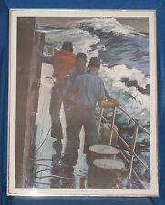 "JOHN CHARLES ROACH (1988) Framed US Navy Art Print SAFETY LINE  22"" x 28"""