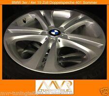BMW 3er F3 4er 19 Zoll Doppelspeiche 401 Sommerkompletträder Alufelgen Radsatz