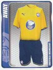 329 AWAY KIT ENGLAND SHEFFIELD WEDNESDAY STICKER FL CHAMPIONSHIP 2010 PANINI
