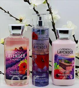 Bath and Body Works French Lavender & Honey 3-Piece Set Shower Gel, Mist, Lotion